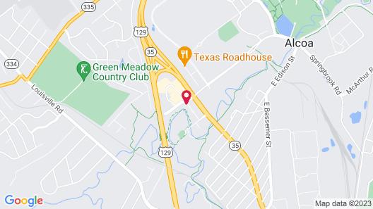 Quality Inn Alcoa / Maryville Map