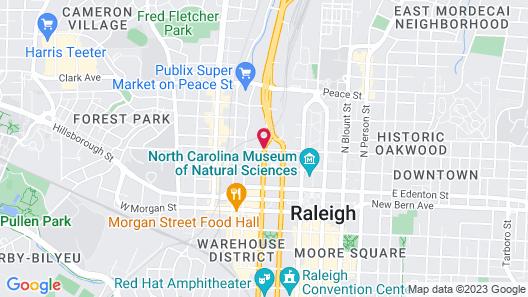 Days Inn by Wyndham Raleigh Downtown Map