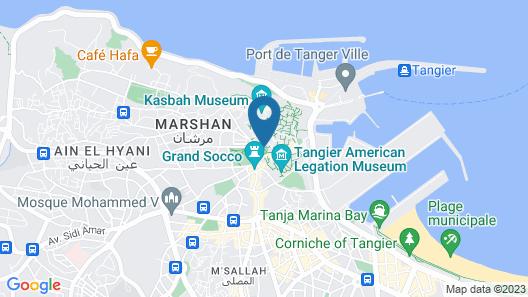 Riad Tingis Map