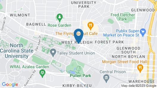 Aloft Raleigh Map