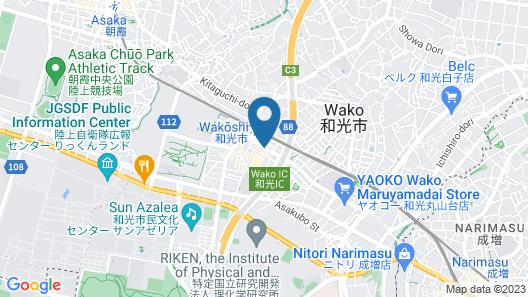 Toyoko Inn Wako-shi Ekimae Map