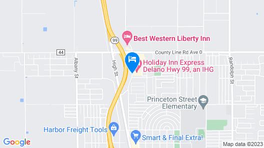 Holiday Inn Express Delano Map