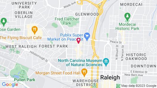 Hampton Inn & Suites Raleigh Downtown Map