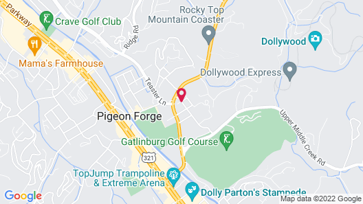 Smokies Bed and Breakfast Map