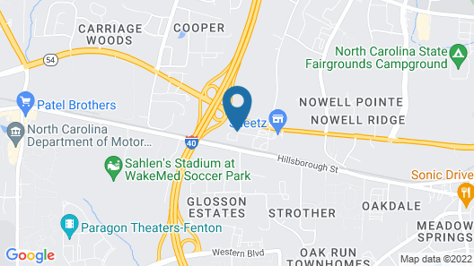 Wingate by Wyndham State Arena Raleigh/Cary Map