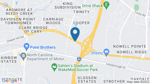 Hampton Inn & Suites Raleigh/Cary I-40 (PNC Arena) Map