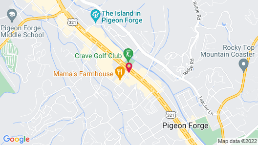 Super 8 by Wyndham Pigeon Forge near the Convention Center Map