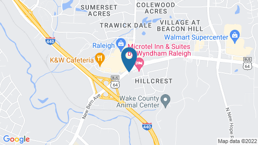 Holiday Inn Express & Suites Raleigh NE - Medical Ctr Area, an IHG Hotel Map