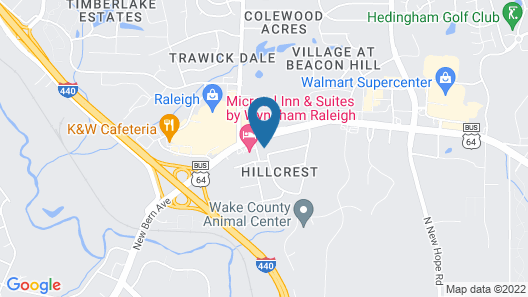 Budgetel Inn and Suites Raleigh Downtown East Map