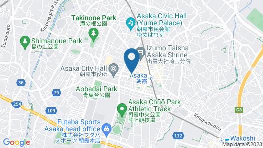 Hotel LiVEMAX Saitama Asakaekimae Map