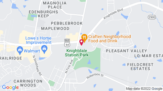 Country Hearth Inn Knightdale Raleigh Map