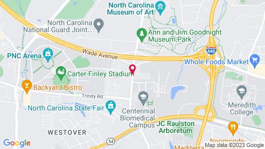 Ramada by Wyndham Raleigh Map
