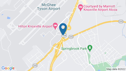 Hilton Knoxville Airport Map