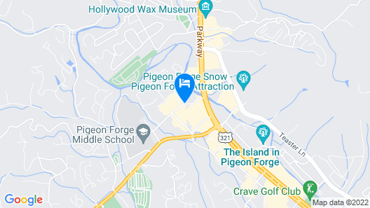 Courtyard by Marriott Pigeon Forge Map