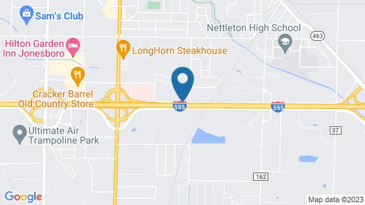 Fairfield Inn & Suites Jonesboro Map