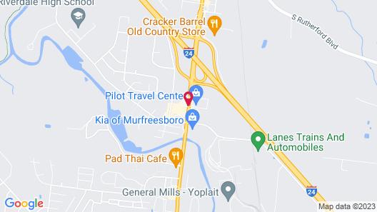 Select Inn Murfreesboro Map