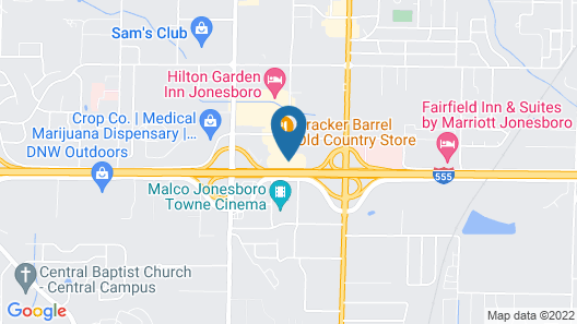 Best Western Plus Jonesboro Inn and Suites Map