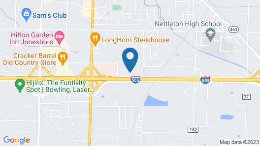 Comfort Suites Jonesboro University Area Map