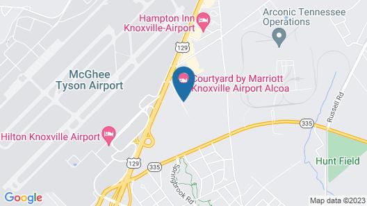 Courtyard Marriott Knox Airport Map