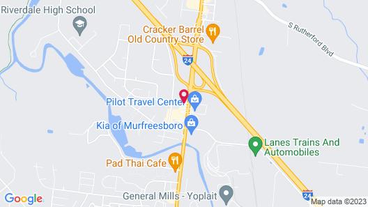 Vista Inn & Suites Murfreesboro Map