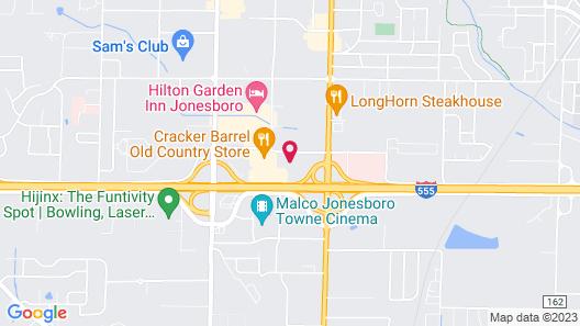 Lexington Suites of Jonesboro Map