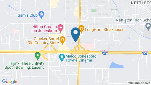 Hampton Inn Jonesboro Map