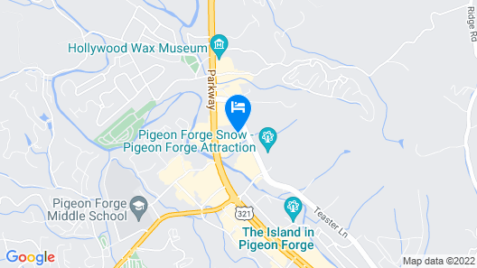 SpringHill Suites by Marriott Pigeon Forge Map