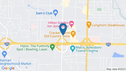 Jonesboro Inn and Suites Map