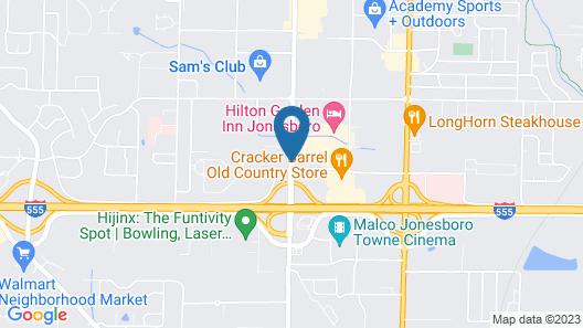 Hilton Garden Inn Jonesboro Map