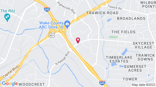 Extended Stay America - Raleigh - Northeast Map