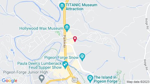 Comfort Suites Mountain Mile Area Map