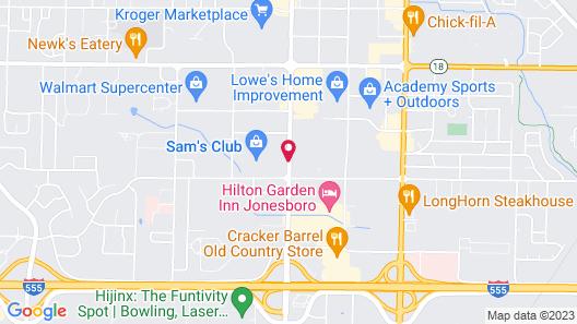 Super 8 by Wyndham Jonesboro Map
