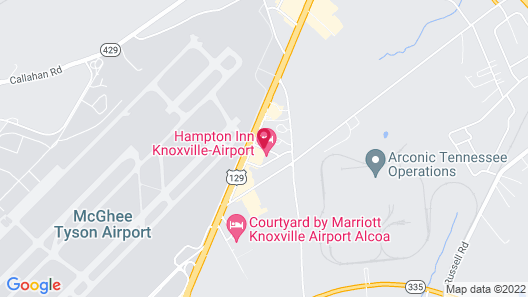 Hampton Inn Knoxville - Airport Map