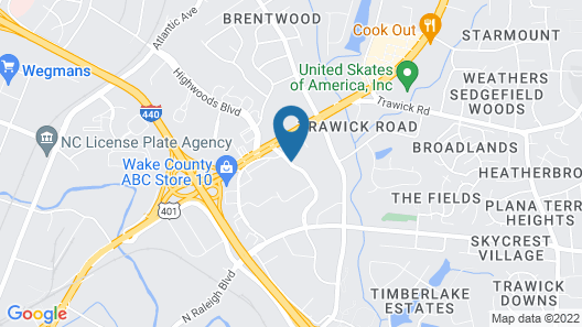 La Quinta Inn & Suites by Wyndham Raleigh Downtown North Map