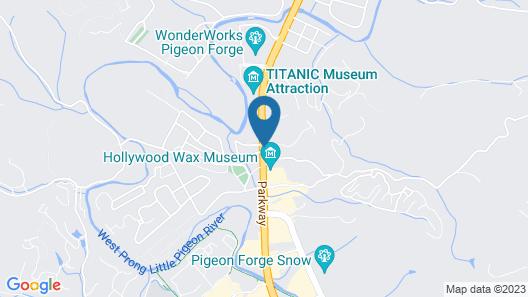 Ramada by Wyndham Pigeon Forge North Map