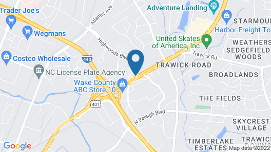 DoubleTree by Hilton Raleigh Midtown, NC Map