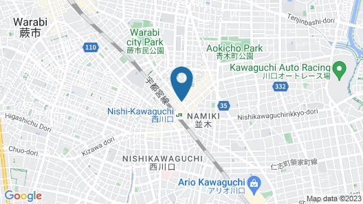 Nishikawaguchi Station Hotel Stay Lounge Map