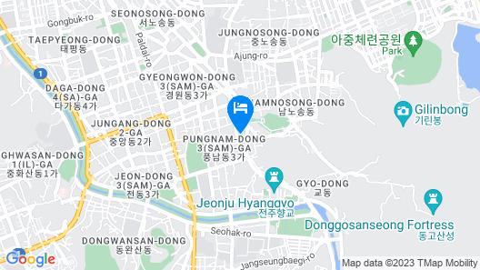 Lahan Hotel Jeonju Map