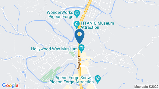 Hotel Pigeon Forge Map