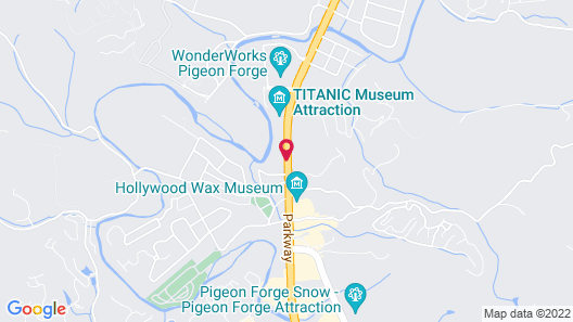Howard Johnson by Wyndham Pigeon Forge Map