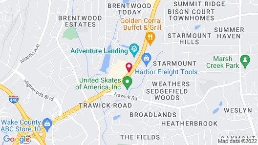 InTown Suites Extended Stay Raleigh NC Map