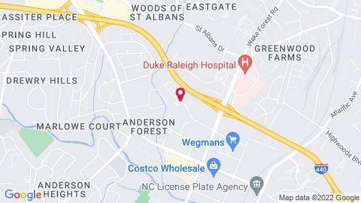 Extended Stay America - Raleigh - Midtown, NC Map