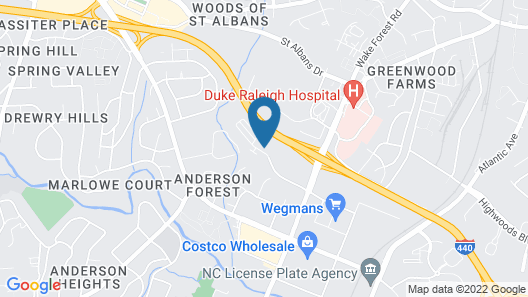 Extended Stay America Suites North Raleigh Wake Towne Dr Map