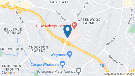 Days Inn by Wyndham Raleigh Midtown Map