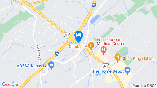Holiday Inn Express & Suites Lenoir Cty Map