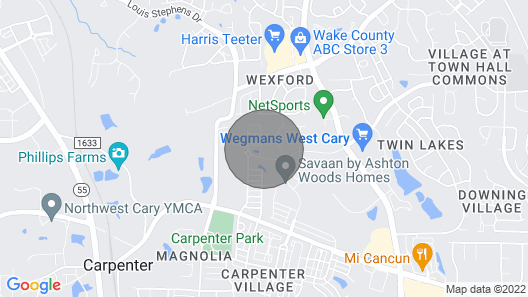 Sanitized /clean Luxurious 4 Bed/3.5 Bath Townhome in the Heart of Cary Map