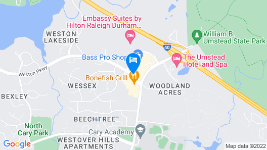 Extended Stay America - Raleigh - Cary - Harrison Ave. Map