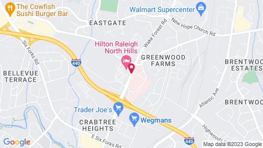 Hilton Raleigh North Hills Map