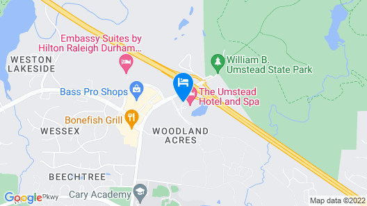 The Umstead Hotel and Spa Map