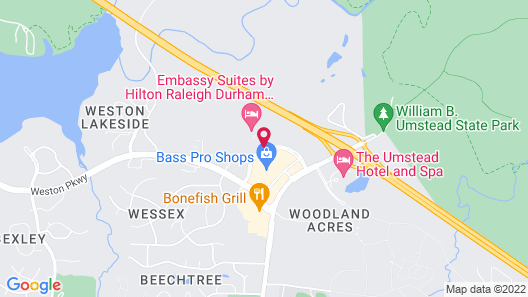 Embassy Suites Raleigh - Durham/Research Triangle Map